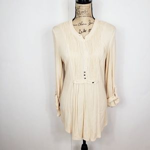 Free people rayon tunic with snap back buttons